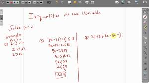 cxc csec act maths how to solve inequalities in one variable