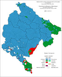 Map Of Albania A Religion Map Of Montenegro For 2003 Maps U0026 Cartographic