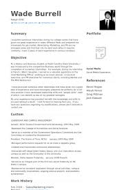 Resume Samples For Internships For College Students by Marketing Intern Resume Samples Visualcv Resume Samples Database