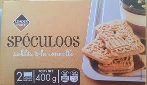 sachet pour biscuit spéculoos leader price 400 g 2 sachets de 200g 42 sablés