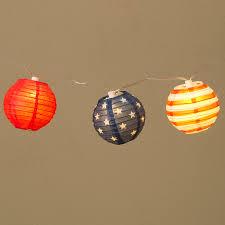 americana 4th of july lantern string lights 10 lights