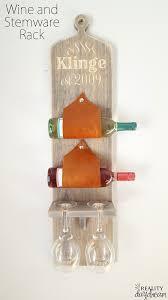 wall mounted wine and stemware rack reality daydream