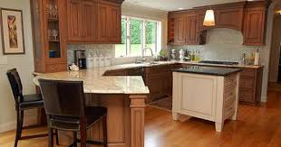 kitchen with island and peninsula kitchens with peninsulas cherry cabinets atticmag