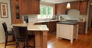peninsula island kitchen kitchens with peninsulas cherry cabinets atticmag