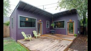 tiny purple cottage in portland amazing small house design youtube