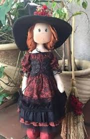 Vintage Kitchen Witch Doll by Miniature Ceramic Jointed Skelly Doll Miniatures Dolls And Clay