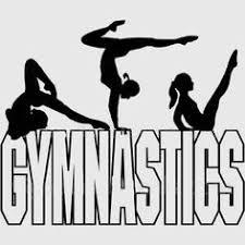 free printable gymnastic silhouettes stock image