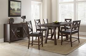 Steve Silver Dining Room Sets by Steve Silver Clapton 6 Piece Dining Set With Bench And X Motif