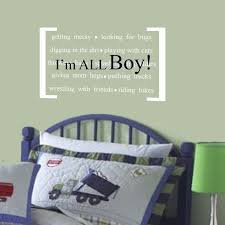 Boy Nursery Wall Decal Vinyl Wall Decal Quote For Boys I M All Boy