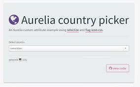 Country Code Flags How To Create A Country Picker Component Using Aurelia And Selectize