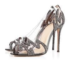 black suede rhinestones upper stiletto heels pumps 10671442