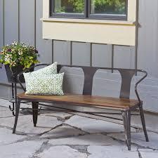 metal bench industrial urban vintage style indoor outdoor