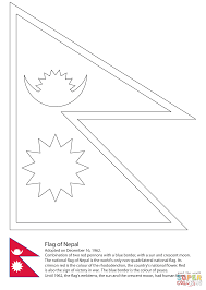 Pics Of Nepal Flag Flag Of Nepal Coloring Page Free Printable Coloring Pages