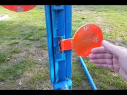 diy duelling tree steel target power factor adjustable