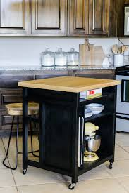 make a roll away kitchen popular diy kitchen island on wheels