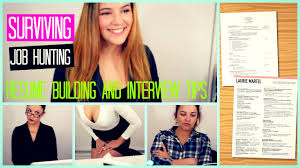 resume and interview tips how to survive job hunting resume building diy interview tips how to survive job hunting resume building diy interview tips for summer job laurie martel