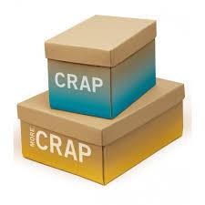 knock knock more crap cardboard storage box knock knock from