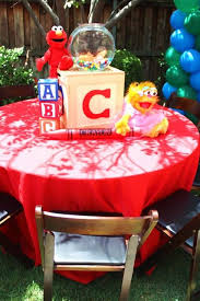 Elmo Centerpieces Ideas by Celina From