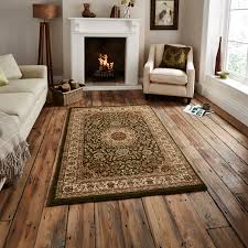 traditional regency wool look pile rug medallion pattern home