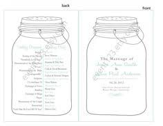 jar wedding programs florida farm wedding at birdsong barn jar weddings