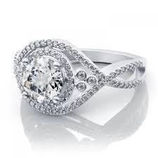 engagement ring setting 24ctw twisted halo split shank diamond engagement ring setting in