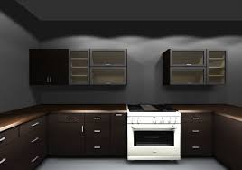 Kitchen Wall Cabinet Design by By Using Both Horizontal And Vertical Glass Cabinets The