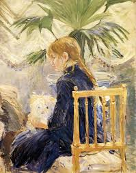 In The Dining Room Berthe Morisot Decor - Berthe morisot in the dining room