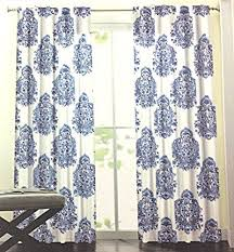 White And Blue Curtains Blue And White Print Curtains Collection In Blue Paisley Curtains