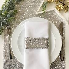silver sequin table runner by the sweet shop