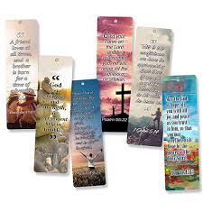 christian bookmarks 60 pack with popular inspirational bible