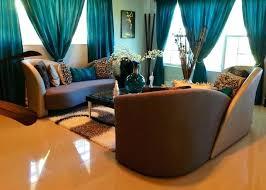 teal livingroom teal curtains for living room brown living room decorating ideas