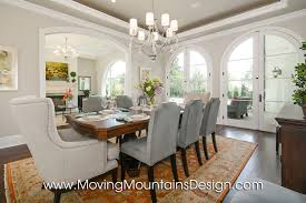 Model Home Staging Moving Mountains Design Los Angeles Real - Dining room staging