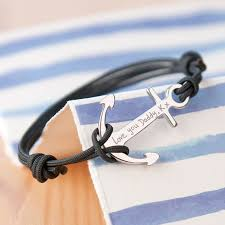 rope bracelet with anchor images Personalised anchor bracelet by merci maman jpg