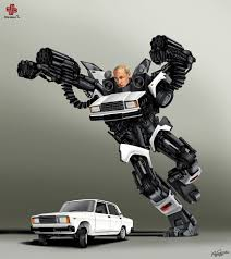 Borespanda by World Leaders Illustrated As Transformers By Gunduz Aghayev