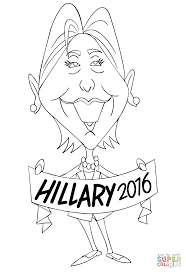 hillary clinton 2016 coloring page free printable coloring pages