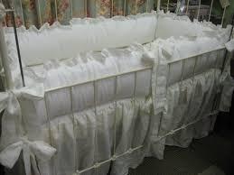ruffled white nursery bedding 2