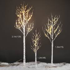 1 5m 5ft 72led warm white silver birch twig tree light