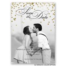 cheap save the date magnets gold polka dots save the date magnet invitations by