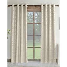 shop allen roth drenham 84 in ivory polyester grommet room