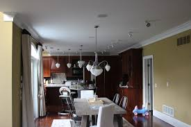 kitchen area ceiling light options stove painting install