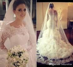 Wedding Dress Lace Sleeves 2017 Vintage Full Lace Long Sleeves Mermaid Wedding Dresses