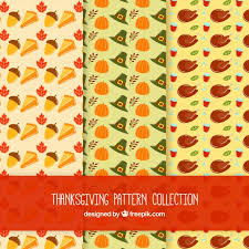 three thanksgiving patterns vector free