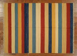 Modern Stripe Rug by New Multi Color Striped Modern Kilim 4 U0027 7