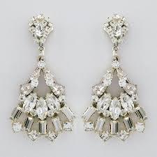 teardrop chandelier earrings erin cole deco bridal chandelier earrings with fan drop