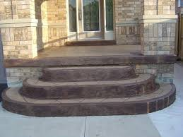 stamped concrete porch and steps home design ideas