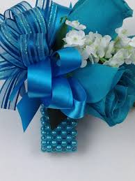 turquoise corsage new artificial turquoise corsage turquoise s