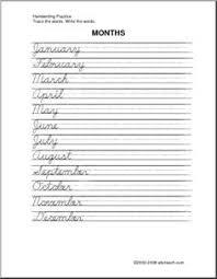 free printable cursive handwriting sheets d u0027nealian but close