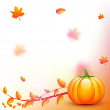 thanksgiving background with pumpkin and autumn leaves vector