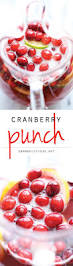 punch recipes for thanksgiving cranberry punch damn delicious