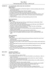 resume tips and exles test technician resume sles velvet